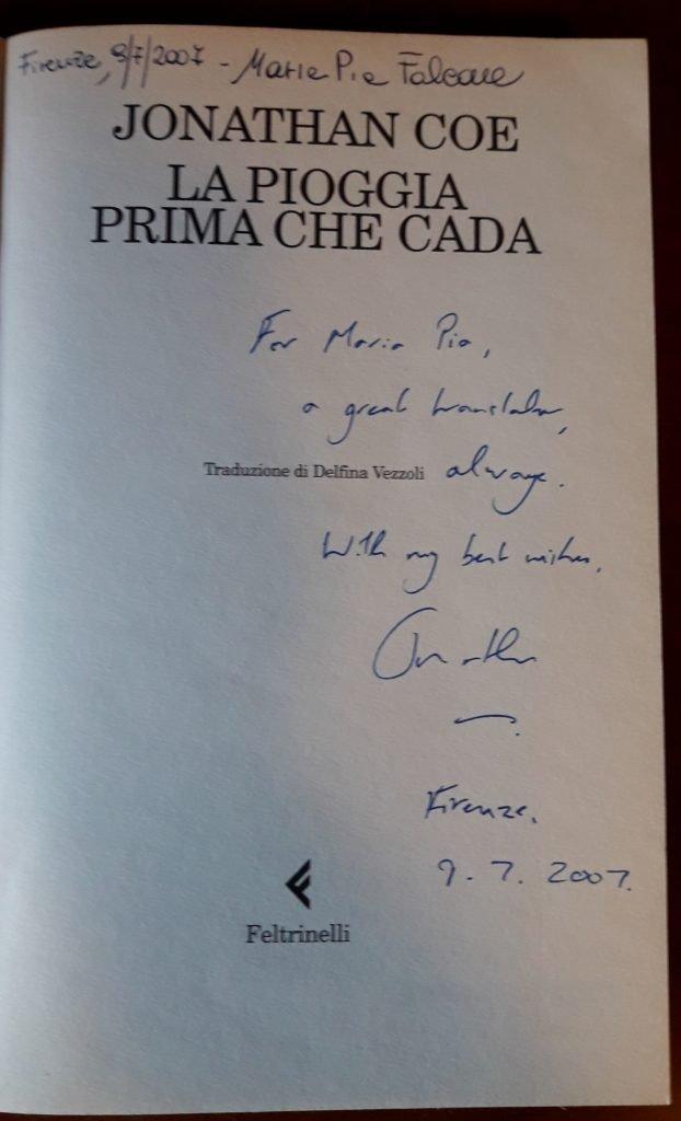 JONATHAN COE_LA PIOGGIA PRIMA CHE CADA 2
